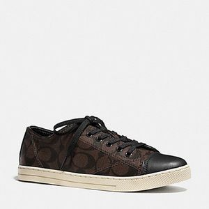 Brown and Black Coach sneakers